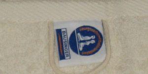 Handtücher mit eigener Waschanleitung