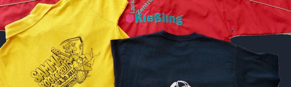 von Fimenlogo bis Vereinslogo: <b>T-Shirts</b> besticken und Modeartikel