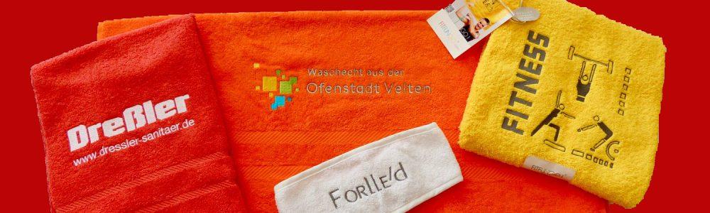 <b>Handtuch besticken:</b> eigenes Motiv oder Logo